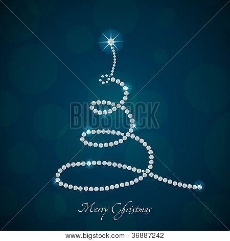 Vector Christmas Tree Made From Diamonds, 2013