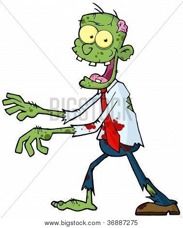 Cartoon Green Zombie