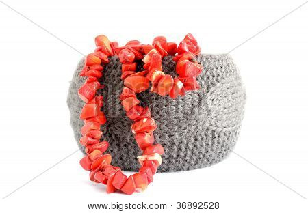 Bracelet And Coral Beads