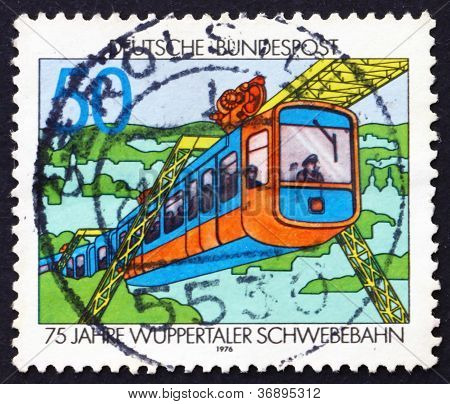 Postage stamp Germany 1976 Wuppertal Suspension Train