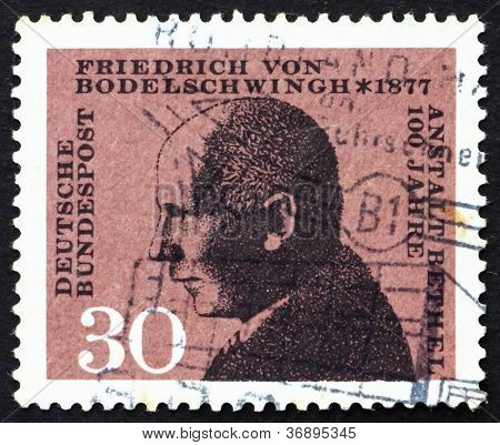 Estampilla Alemania 1967 Friedrich von Bodelschwingh
