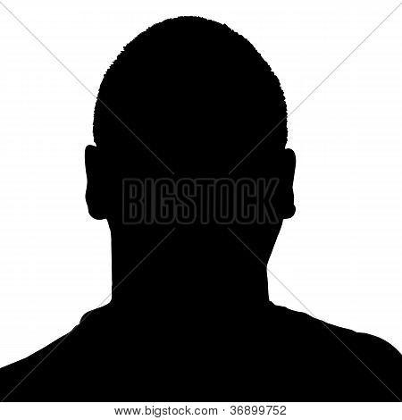 Mans Head Silhouette