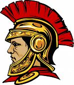 picture of spartan  - Vector Graphic of a Greek Spartan or Trojan wearing a Helmet - JPG