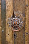 Medieval Ornate Brass Door Knob poster