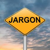pic of jargon  - Illustration depicting a roadsign with a jargon concept - JPG