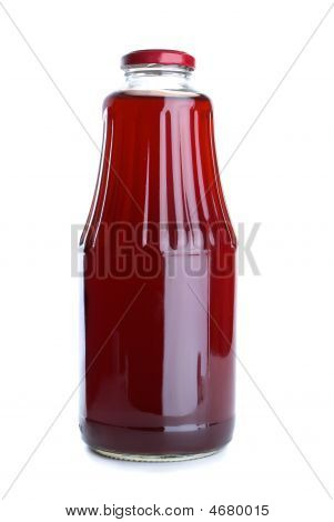 Pomegranate Juice In The Glass Jar