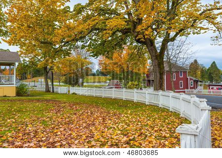 Autumn Small Town America