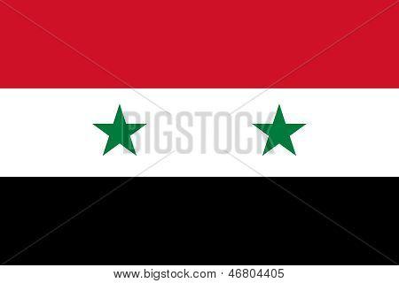 Syrische Arabische Republiek nationale vlag