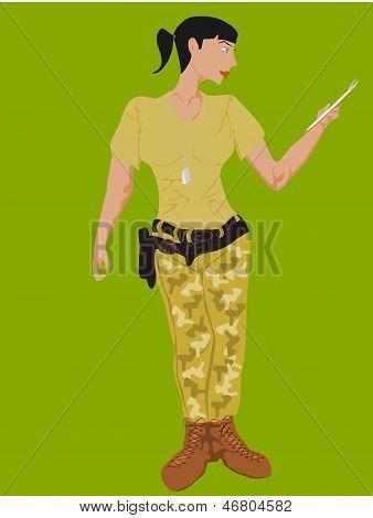 soldado negro mujer