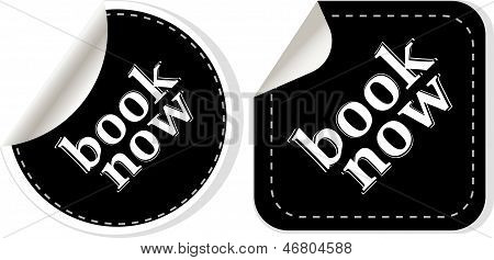 Book Online Now Stickers Set