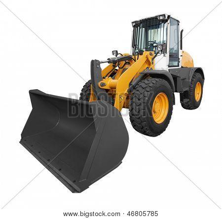 bulldozer isolated on white background