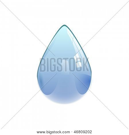 Water drop, eps10 vector