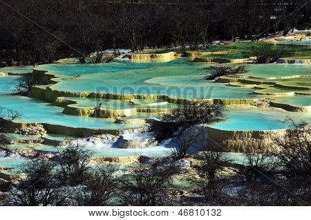.golden Sand On Earth At Huanglong