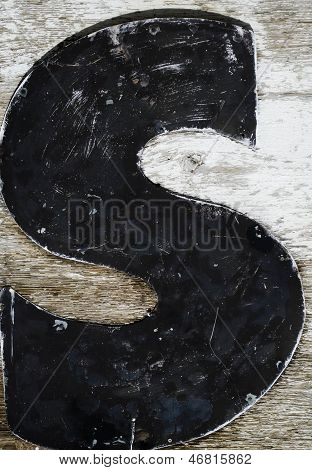 painted letter s