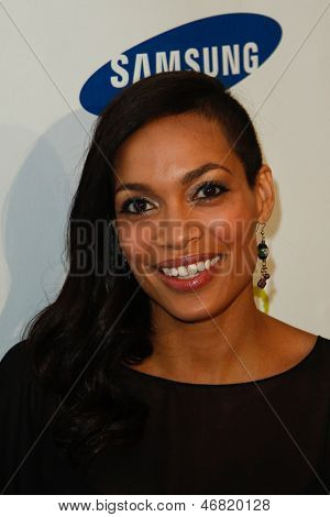 NEW YORK-MAY 29: Actress Rosario Dawson attends the Samsung Hope for Children gala at Cipriani Wall Street on June 11, 2013 in New York City.