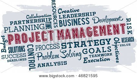 Project Management Business Word Cloud Collage