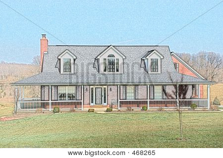 Bauernhofhaus auf dem Land