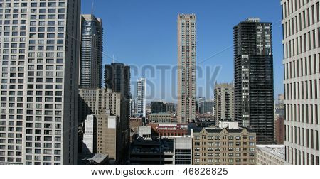 High Rise Architecture in downtown Chicago, USA