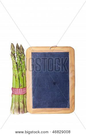 Green Asparagus With Slate