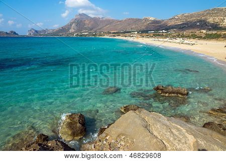 Lovely beach on Crete island