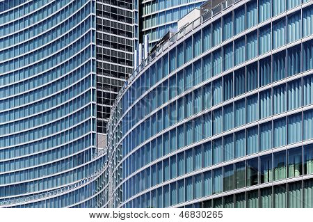 Glass Skyscraper In Milan