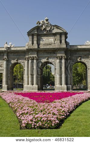 The Alcala Gate. Madrid. Spain.