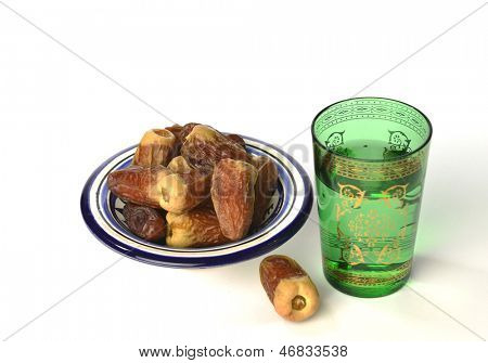 Arabic dates and water