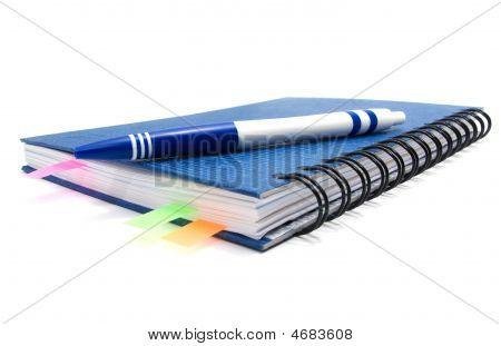 Closed Notebook With Bookmarks