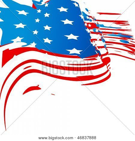 american flag background design with space for your text