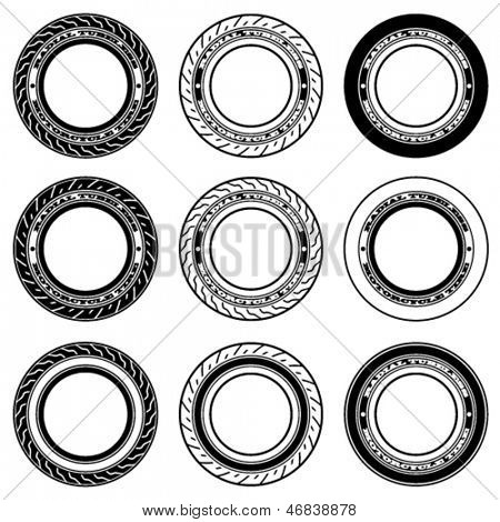 vector radial tubeless motorcycle tyre symbols