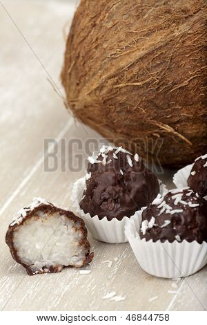 Coconut Milk Rice Truffles And A Coconut