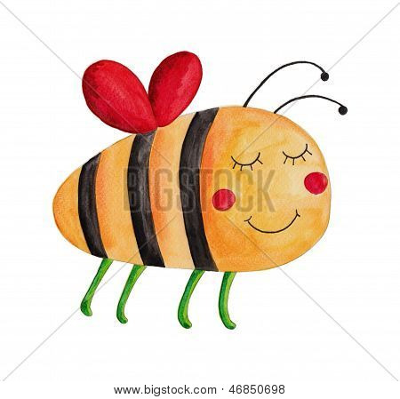 Bee. Cartoon character