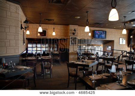 Interior Of A Restaurant Bar
