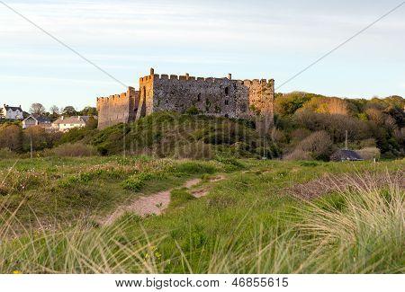 Manorbier Castle near Tenby Wales famous Welsh castle