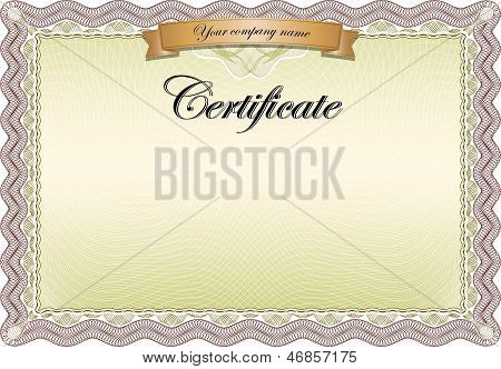 Certificate Brown
