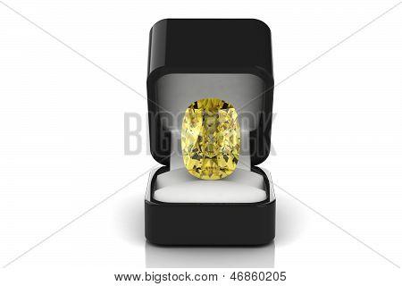 Yellow Diamond  In A Gift Box