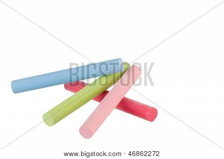 Colorful Chalk Sticks