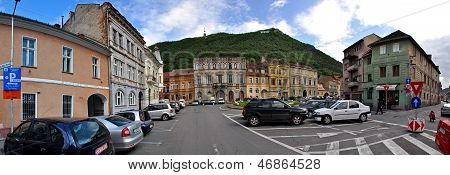 Panoramic view of Brasov city, Romania