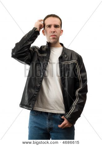 Confused Man Scratching Head