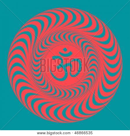 Om symbol illustration. Raster version, vector file available in portfolio.