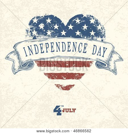 Independence day card concept. Raster version, vector file available in portfolio.