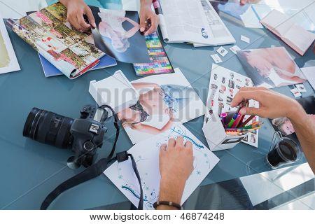 Fotos de fotos y revistas utilizados por editores de foto