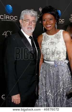 LOS ANGELES - JUN 16:  George Lucas arrives at the 40th Daytime Emmy Awards at the Skirball Cultural Center on June 16, 2013 in Los Angeles, CA