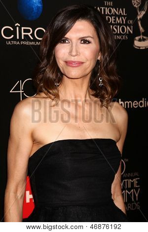 LOS ANGELES - JUN 16:  Finola Hughes arrives at the 40th Daytime Emmy Awards at the Skirball Cultural Center on June 16, 2013 in Los Angeles, CA