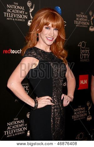 LOS ANGELES - JUN 16:  Kathy Griffin arrives at the 40th Daytime Emmy Awards at the Skirball Cultural Center on June 16, 2013 in Los Angeles, CA