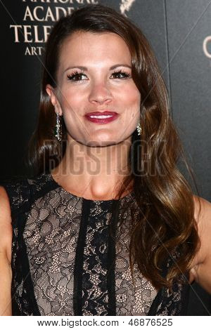 LOS ANGELES - JUN 16:  Melissa Claire Egan arrives at the 40th Daytime Emmy Awards at the Skirball Cultural Center on June 16, 2013 in Los Angeles, CA