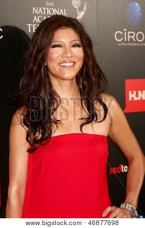 LOS ANGELES - JUN 16:  Julie Chen arrives at the 40th Daytime Emmy Awards at the Skirball Cultural Center on June 16, 2013 in Los Angeles, CA