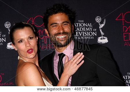 LOS ANGELES - JUN 14:  Melissa Claire Egan, Ignacio Serricchio attends the 2013 Daytime Creative Emmys  at the Bonaventure Hotel on June 14, 2013 in Los Angeles, CA