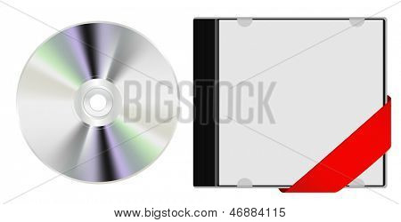 cd with ribbon