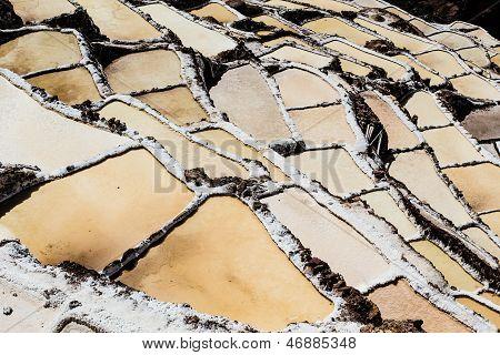Peru, Salinas De Maras, Pre Inca Traditional Salt Mine (salinas).